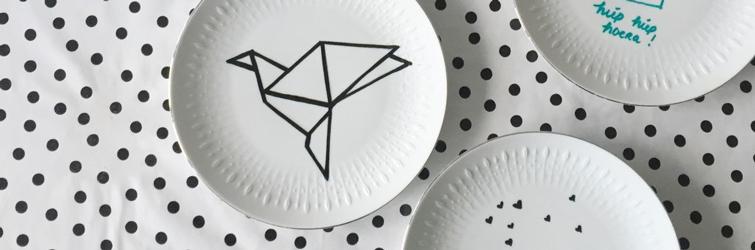 Bordjes versieren met porseleinstiften