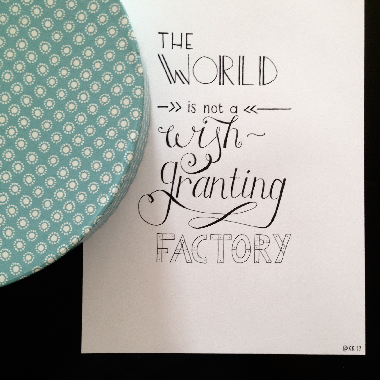 (14/14) 10. Poster met gehandletterde quote